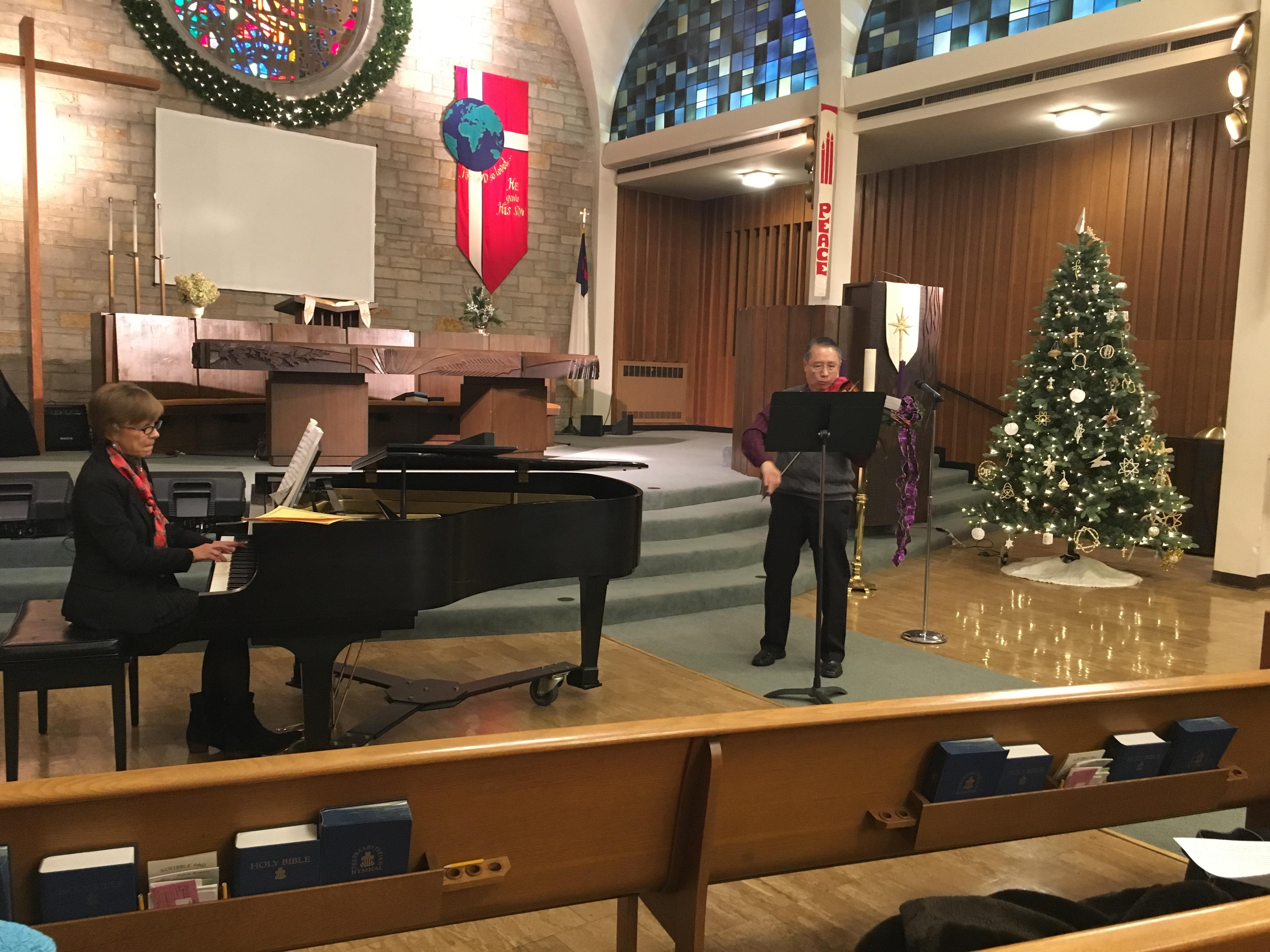 Nancy Hagen with Robert Hariman, Dec. 13, 2017