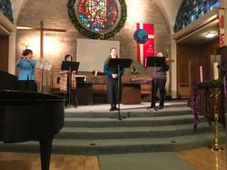 Karin Ursin, Roseanne Rosenthal, Celeste Martino, Robert Hariman, Dec. 13, 2017