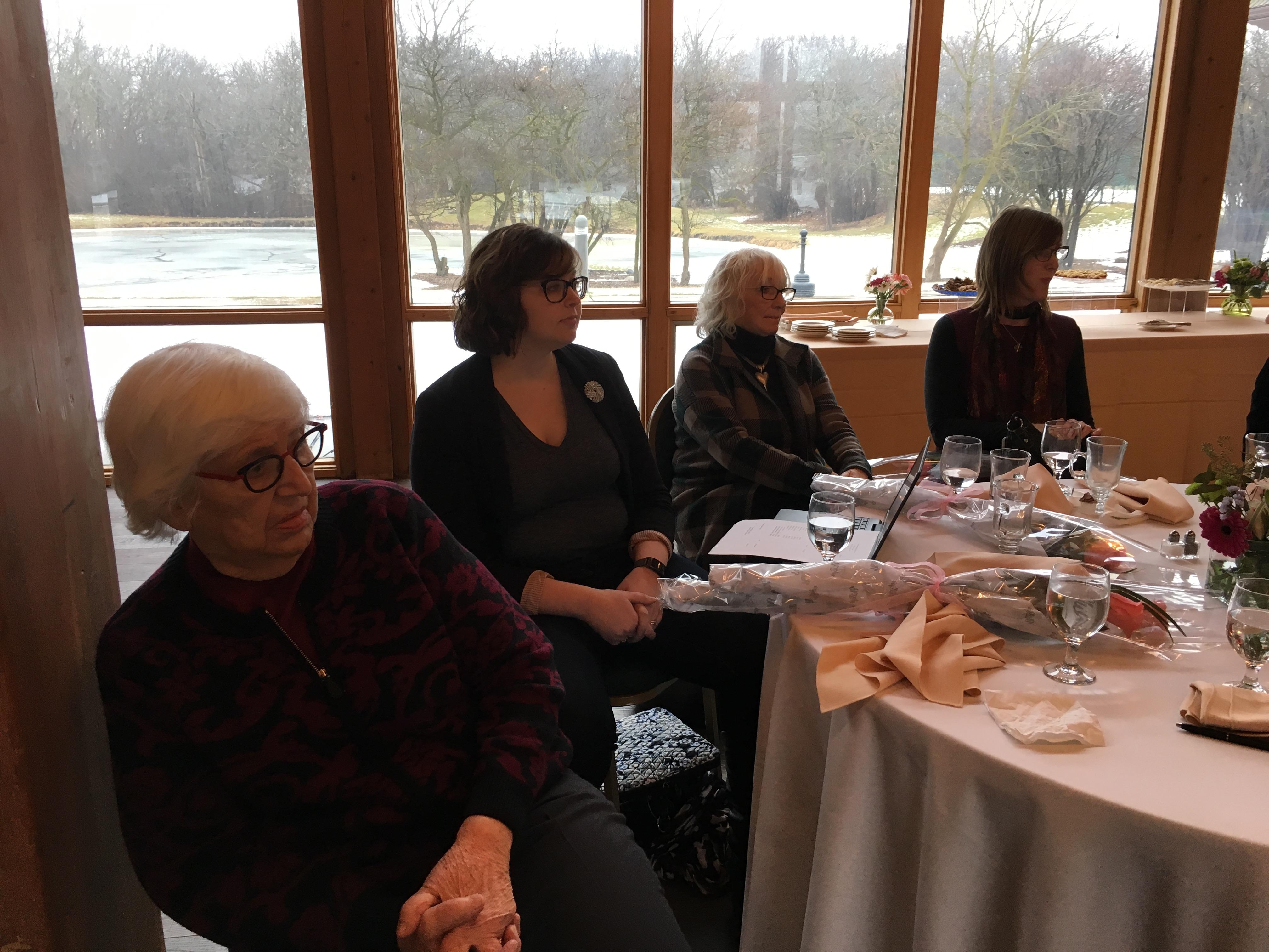 Zoe, Melissa, Jane, Lisa, Annual mtg. Jan 2018