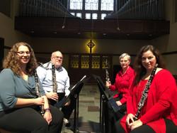 Scholarship Concert Jan 15, 2017 Clarinet Ensemble 1