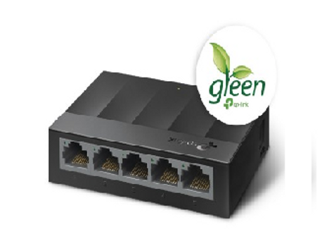 Switch No Administrable 5 Puertos TP-LINK LS1005G, Negro, 3.7 W