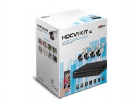 Kit de 4 Canales 1080p Dahua Technology DH-KIT/ XVR1B04/4-B1A21, Policarbonato,
