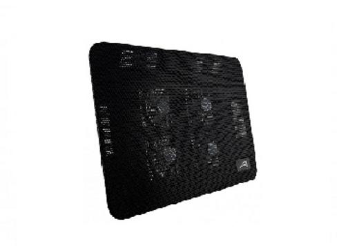 Base enfriadora ACTECK AC-916561, Negro, Metal, Base enfriadora