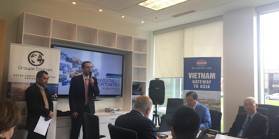 Déjeuner d'affaire avec le Premier Ministre Vietnamien de la province de Binh Phuoc