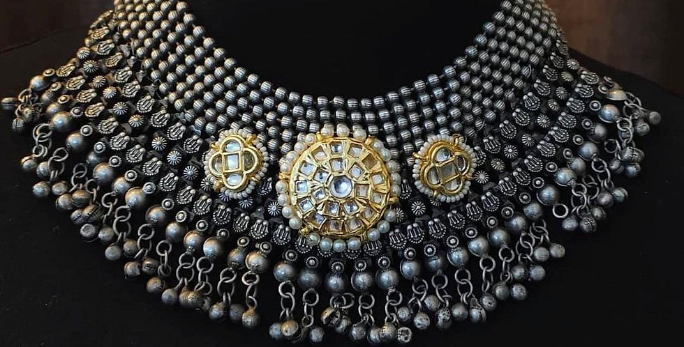German Silver/Brass/Kundan Choker