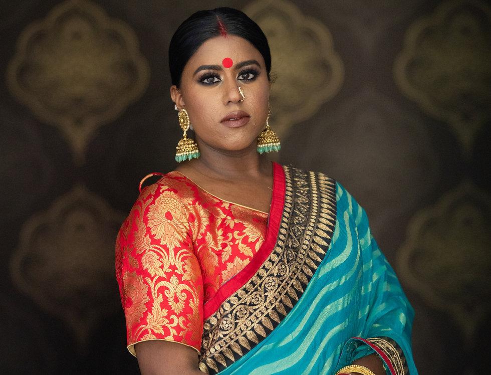 Georgette Saree with Banarasi Borders