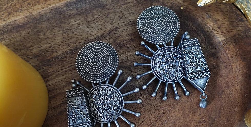 Brass/German Silver Earrings