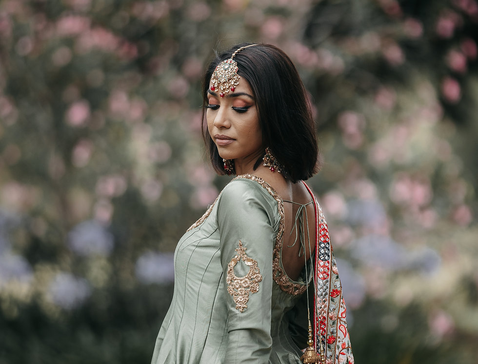 Taffetta Silk Anarkali /Kashmiri Embroidery Palazzo/Duppatta set