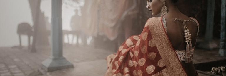Banarasi Georgette Saree with Tussar Silk Blouse