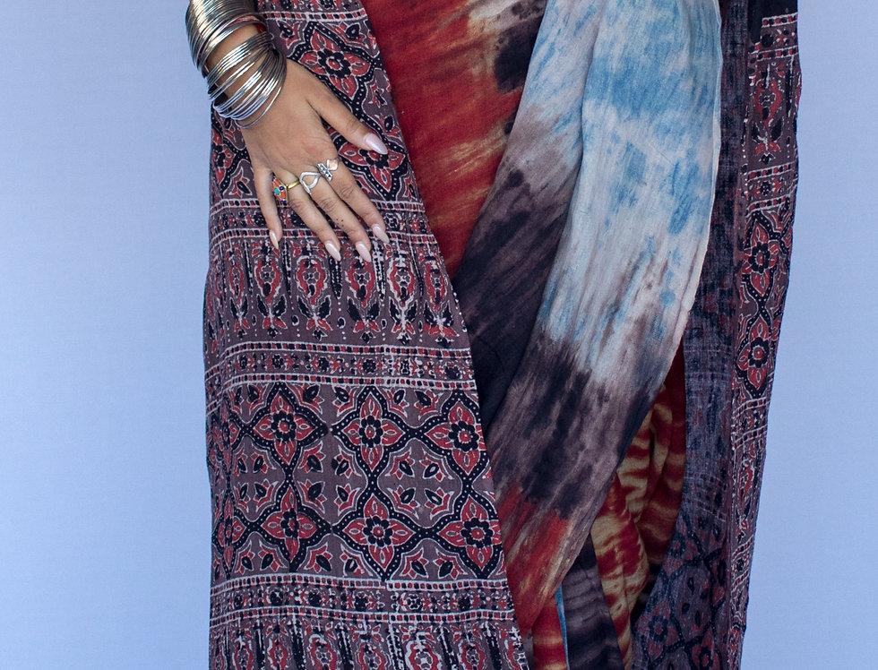Ajrakh Tie & Dye Saree