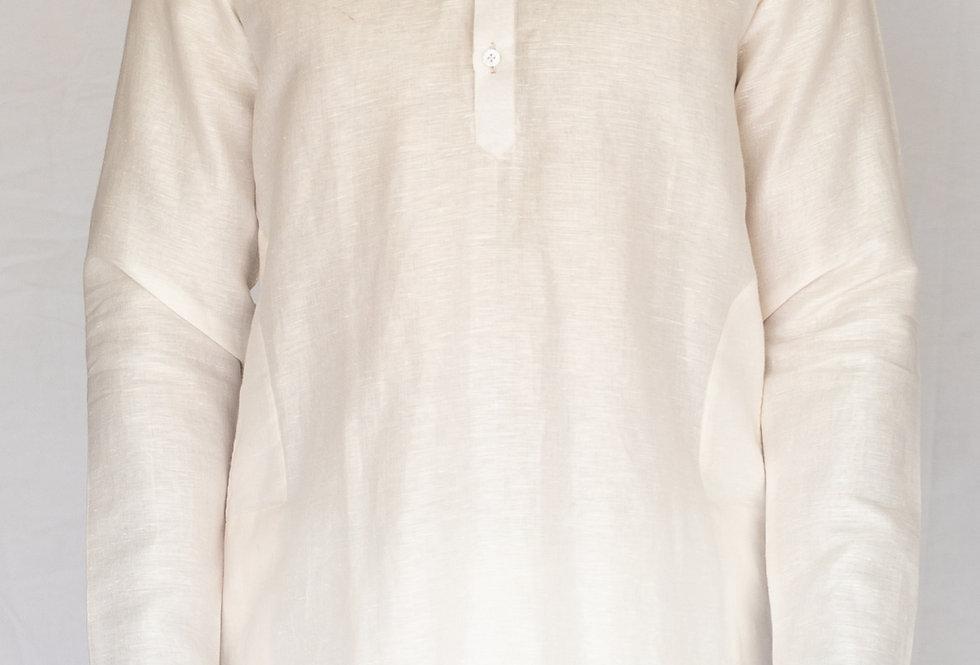 Pure Handcrafted Linen & Cotton mix kurta