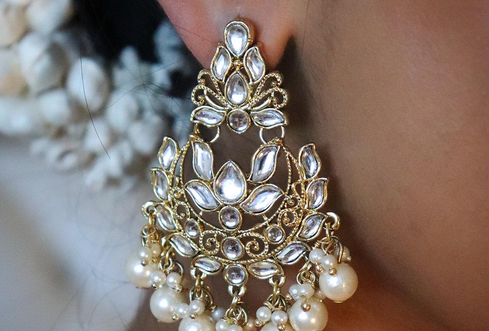 Kundan & Pearl Earring pair