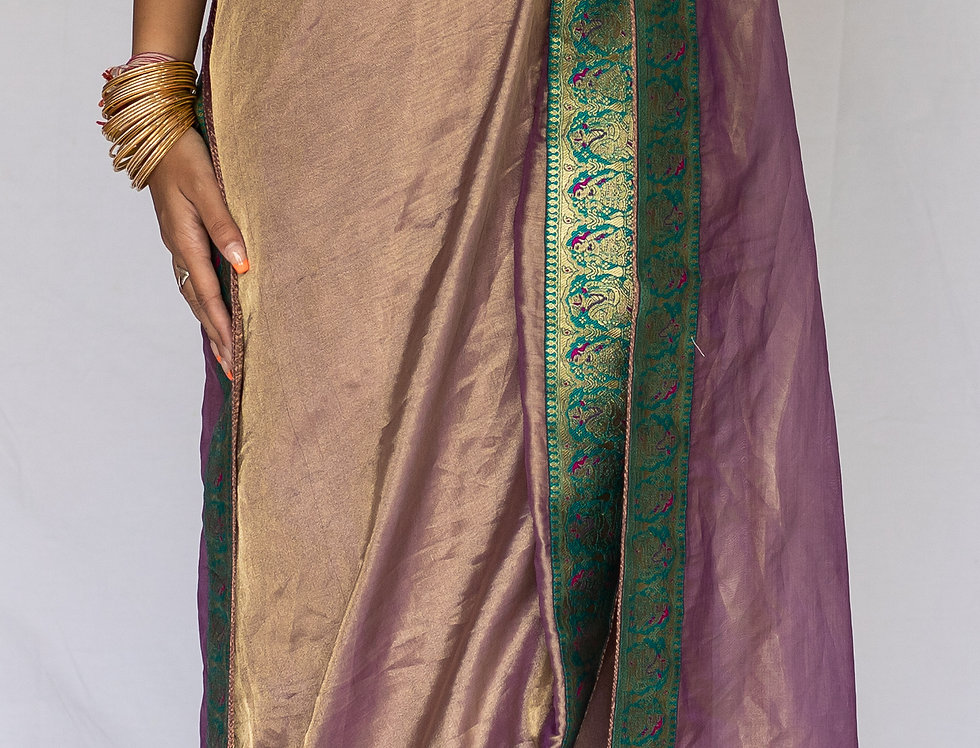 Pure Tissue Silk Saree with Banarasi Borders