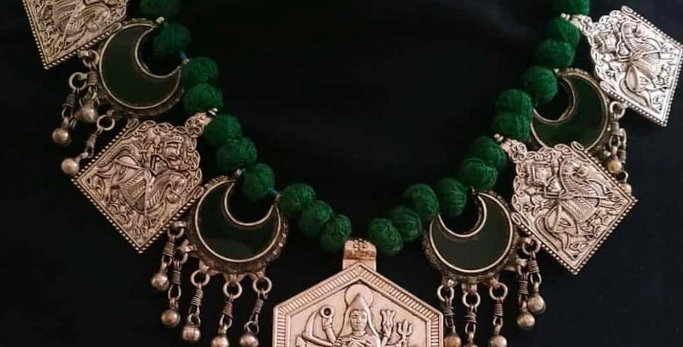 German Silver Kundan Choker/Necklace