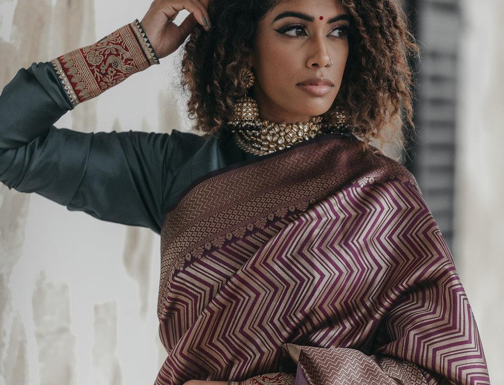 Pure Katan Silk Saree/ Blouse