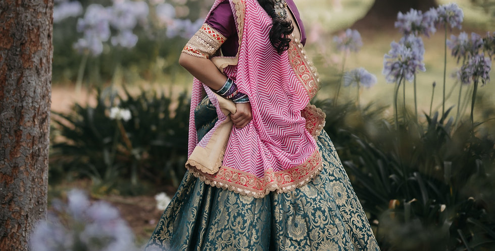 Silk Brocade Lehenga/Leheriya set