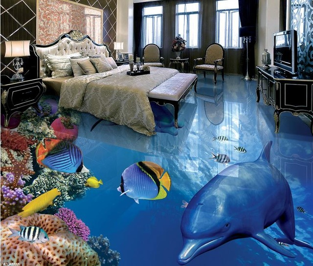 3d-floor-mural-wallpape-Tropical-fish-do