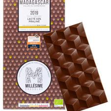 マダガスカル ミルク 55%  ヘーゼルナッツ&アーモンドプラリネ