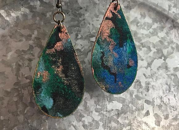 """Camouflage"" Art Canvas Earrings"