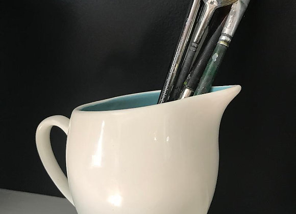 White Pitcher/with Robin's Egg Blue interior