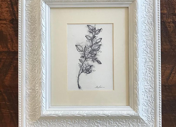 "Framed ""Leafy Branch"" Original"