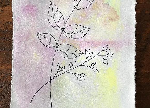 """""""Pairing"""" Original Ink and Watercolor"""