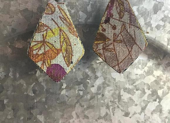 """""""Motif"""" Art Canvas Earrings"""