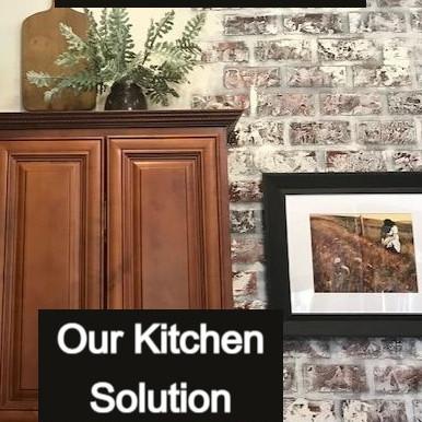 Faux Brick (Our Kitchen Solution)