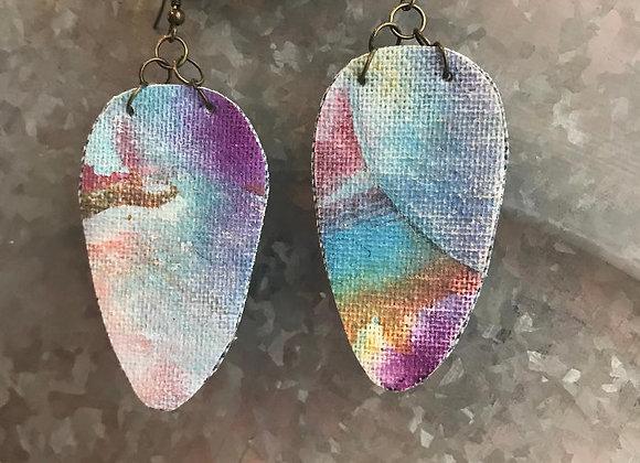 """Pigment"" Art Canvas Earrings"