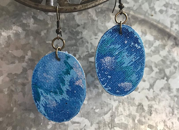 """Current""  Art Canvas Earrings"