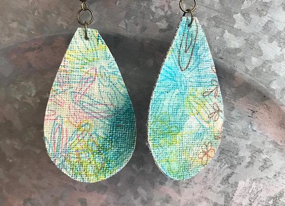 """""""Cool Mood"""" Art Canvas Earrings"""