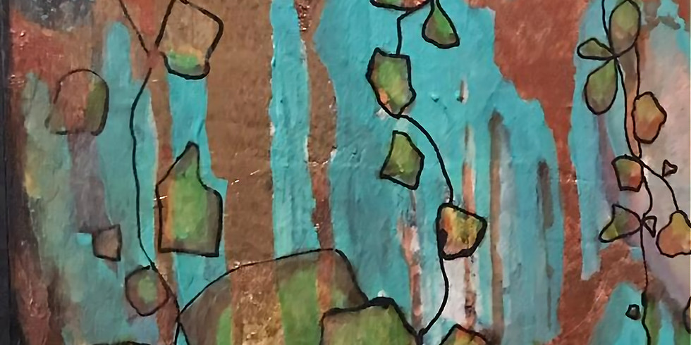 Create 3 small works inspired by plants - Mixed Media Abstract Workshop