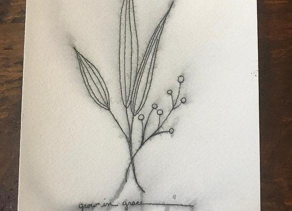 """Grow in Grace"" (1) Original art"