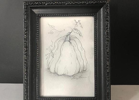 """Pumpkin Original Art (Framed) 4""""x6"""""""