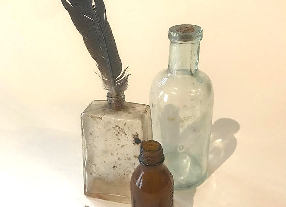 Old Bottles and Feathers Collection