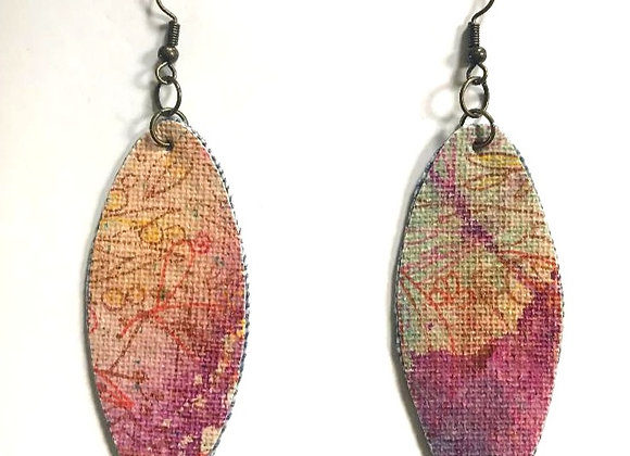 """Hint"" Art Canvas Earrings"