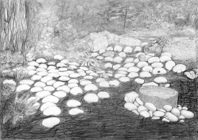 Les pierres blanches de la série jardin des souffles