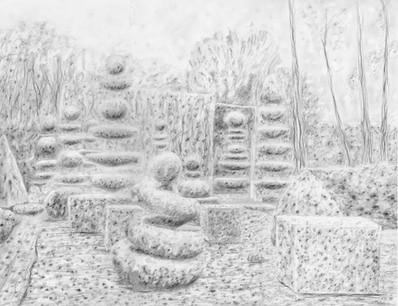 Topiaires-3 de la série jardin des souffles