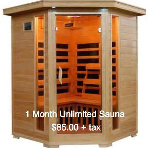 1 Month Unlimited Infrared Sauna