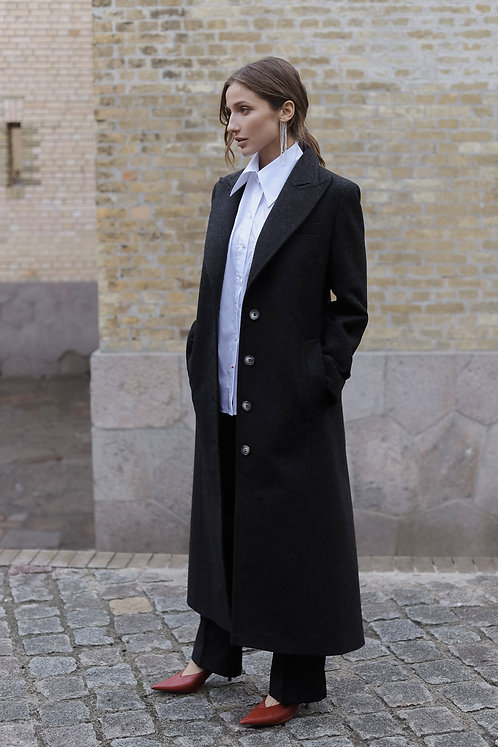 Однобортное пальто El Paso Grey