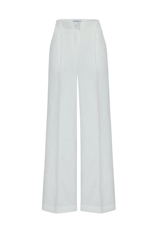Широкие брюки Verese White с высокой посадкой  (лиоцел)