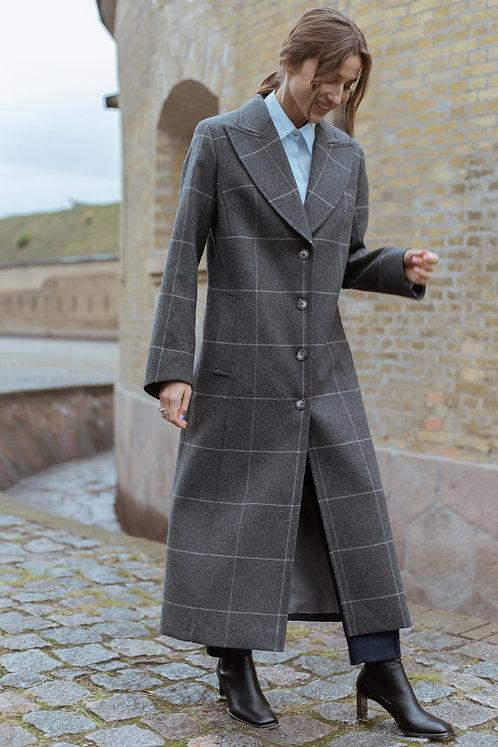 Пальто однобортное El Paso Windowpane Grey