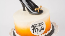 50th Birthday Cake with Chocolate Shoe