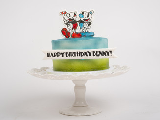 Cuphead Birthday Cake
