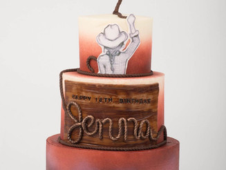 Icing Smiles: Cowgirl Birthday Cake