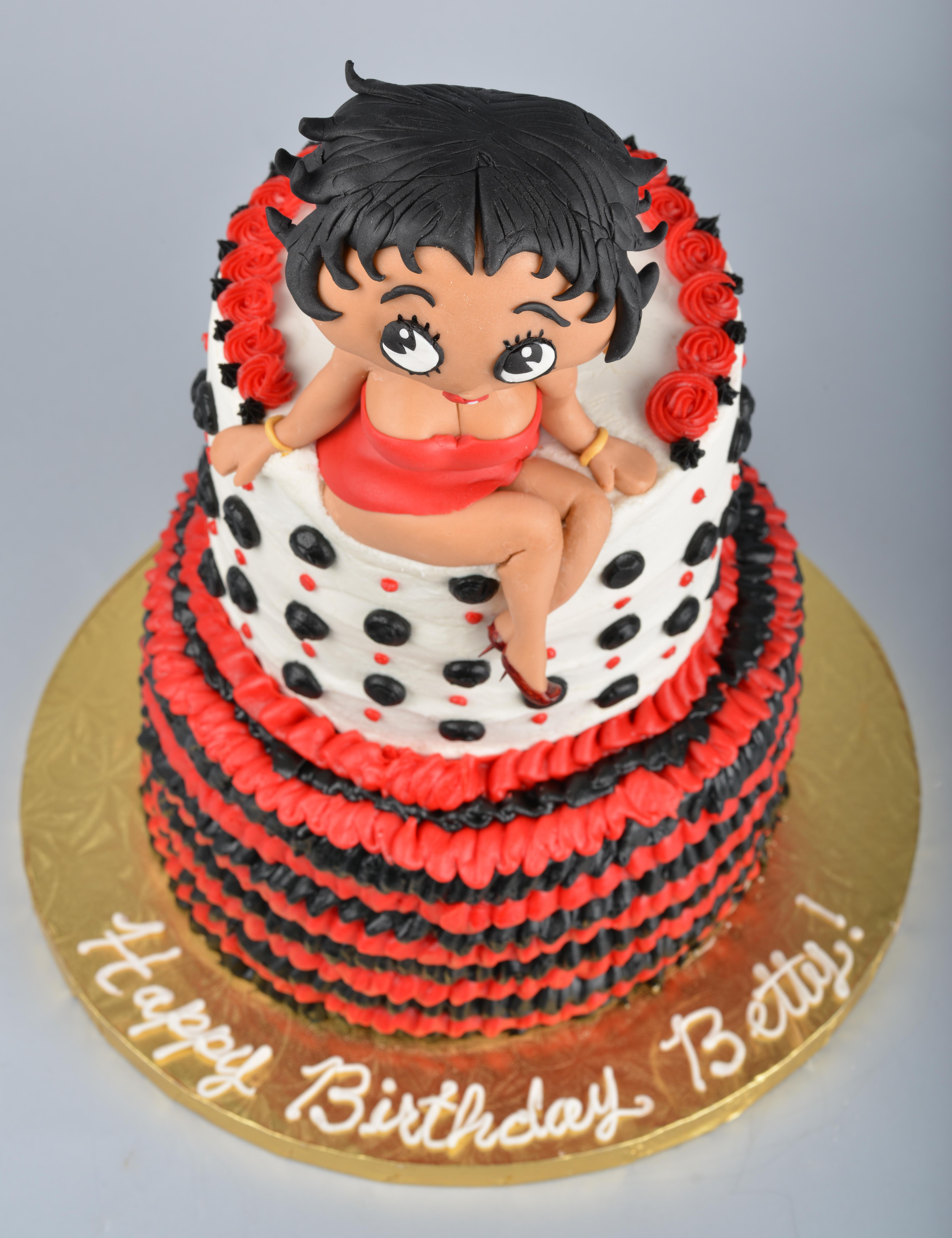 Fantastic Cake Journey Betty Boop Birthday Cake Birthday Cards Printable Opercafe Filternl