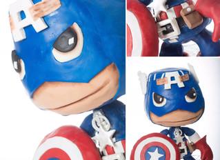 Little Big Planet Captain America Cake