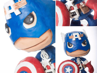 Little Big Planet Captain America Cake