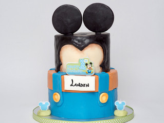 1st Birthday Baby Mickey Cake
