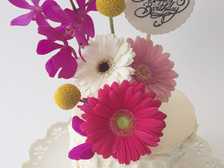 Cake Journey- Birthday Cake with Real Flowers